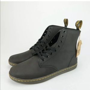 Dr. Marten Tobias Leather Greasy Lamper Boots
